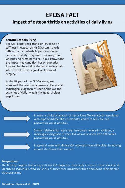 EPOSA Impact of osteoarthitis on activities of daily living