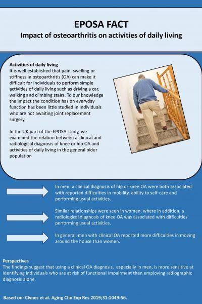 EPOSA 19. Impact of osteoarthritis on activities of daily living